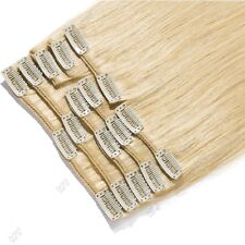 ✿ US Full Head Clip in Remy Human Hair Extensions ✿ 15-26 inch ON SALE MX173