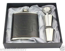 Premium Stainless steel hip flask Gift Set Jack Daniel flagon w/ 2 Shot Glasses