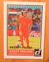 Wesley Sneijder 2015 Donruss Press Proof Parallel #D /299 Germany