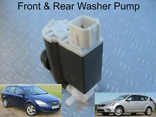 Front & Rear Windscreen Washer Pump For Kia Cee'd Estate 2007 through to 2012