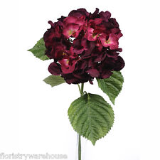 Artificial Silk Plum Giant Hydrangea 70cm Single Stem Wedding Flowers