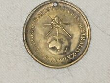A Vintage Bronze 1970 Pope Paul 6th Papal Visit to Australia & New Zealand Token
