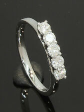 18 Carat White Gold 5 Stone Diamond Ring 0.49ct Size M 1/2 (70.17.220)