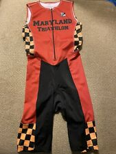 Men's Maryland Terrapins Triathlon Tri Suit Skinsuit Speedsuit Cycling Small S