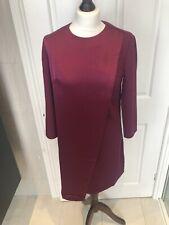 Ted Baker Work Wear Purple Shift Tunic Dress w Wrap Detail - Size 10 - BNWT