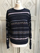 Vintage Laura Ashley Summer Sweater/Jumper Size S/M - Cotton 1980s