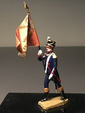 M.D.M. 80MM 1960's HARD PLASTIC 1807 ARTILLERY FLAG BEARER w/CELLO DISPLAY COVER