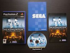 HEADHUNTER REDEMPTION : JEU Sony PLAYSTATION 2 PS2 (Sega COMPLET envoi suivi)