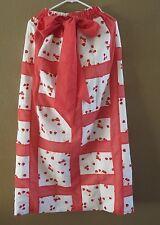 Vintage strawberry elastic waist tie  long skirt XS to M