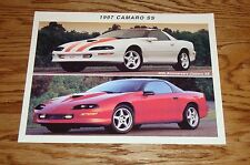 Original 1997 Chevrolet Camaro SS Fact Sheet Sales Brochure 97 Chevy