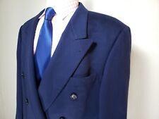 Hugo Boss Loro Piana Cashmere Wool Navy 6 X 1 Double Breasted Sport Coat 44R