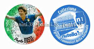 """RARE !! NUTELLA Sticker N1 PAOLO ROSSI """"AZZURRO MONDIALE 2002"""" PANINI"""