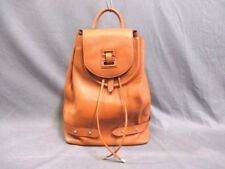 Auth meli melo Brown Leather Backpack