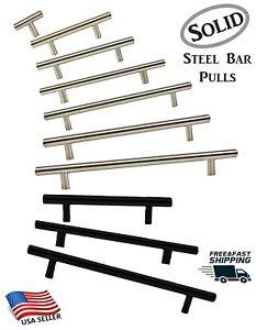T Bar Pull Handles Modern Kitchen/Bath Cabinet Hardware Brushed Nickel or Black