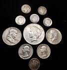 Lot+of++90+%25+silver+U.S.+coins+FV+%243.10+Peace+Dollar%2C+Halves%2C+Quarters%2C+Dimes