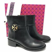 Tory Burch Miller Leather Bootie Women's Black Boots Size 10