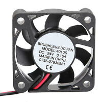 Mini 4010S 24V Cooler 40x40x10mm Brushless DC Cooling Fan 7 Blades Radiator
