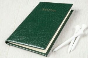Golf Score Book Note Book Pocket Golf Notebook Deluxe Leather Uk Made
