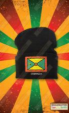 Granada Bandera Insignia Gorro De Punto Sombrero Roots Reggae Rasta