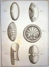 Encyclopédie Méthodique Antiquités Mythologie Boucliers Romains 1786
