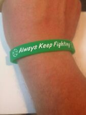 Always Keep Fighting silicone bracelet (Green) Inspired by Jared Padalecki