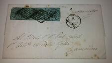 Stato Pontificio lettera con 1 baj con interspazio da Apiro a Camerino cat 6.250