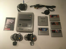 Ogininal Nintendo SNES Console Bundle 4 Games 2 Controllers + Super Game boy