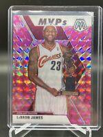 2019-20 Panini Mosaic Pink Camo MVP Lebron James #298 SP
