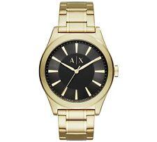 Genuine Armani Exchange AX2328 Men's Large Black Gold Designer Watch RRP £140