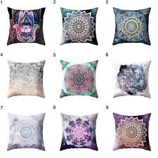 Indian Mandala Print Throw Pillow Case Bohemian Cushion Cover Home Decor Eyeful