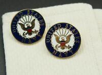 Custom Made New Cufflinks Handmade United States Navy Insignia Military Vetern