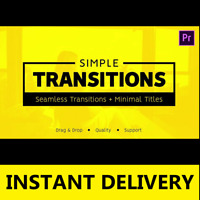475 Seamless Transitions and  50 Minimal Titles for Premiere Pro drag-n-drop