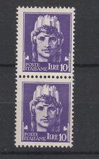 FRANCOBOLLI 1929 REGNO IMPERIALE L. 10 IN COPPIA MNH D/4705