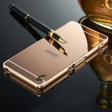 For Sony Xperia Z1 Z2 Z3 Z4 Z5 M4 Metal Aluminum Frame Case +  Mirror Back Cover
