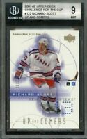 2001-02 upper deck challenge for the cup #122 RICHARD SCOTT rangers rookie BGS 9