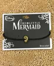 Disney The Little Mermaid Ariel Ursula Conch Black Cord Bracelet NWT!