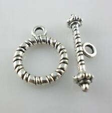 14Sets Tibetan Silver Clasps Interface Toggle Connectors Jewelry Bracelet Making