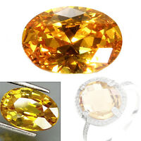 10Pcs Natural Gem Oval Shape Yellow Sapphire Loose Gemstone Jewelry Gifts TR