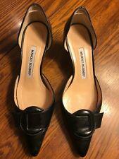 MANOLO BLAHNIK Black Leather Pumps, size 36 1/2 (US 6 1/2)