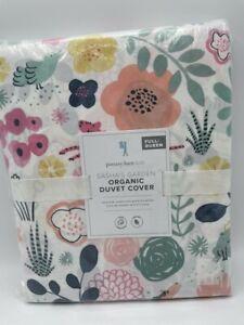 New Pottery Barn Kids Organic Cotton Sasha's Garden Full/Queen Duvet Cover