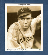 #14 Tris Speaker, 1916 Indians The Sporting News 1981 Conlon Collection card/HoF