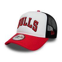 NEW ERA CHICAGO BULLS BASEBALL CAP.TEAM TRUCKER COLOUR BLOCK ADJUSTABLE HAT 9S1