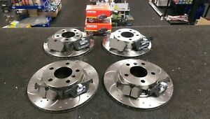 FOR BMW 325D M SPORT F30 FRONT REAR DRILLED GROOVED BRAKE DISCS AND BRAKE PADS