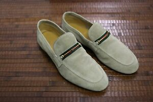 GUCCI Loafer made in Italy US 9  Suede Thin-Horsebit Shoes Tan