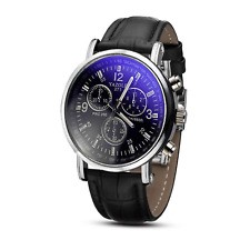 Mens Leather Watch Mens Analogue Quarts Watch Luxury Casual UK Brand New