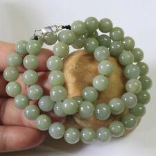 "Genuine 100% Natural (Grade A) Untreated Light Green Jadeite JADE Necklace 21"""