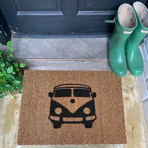 Camper Van Doormat Natural Coir Gifts Mat Eco Friendly Rubber Non Slip