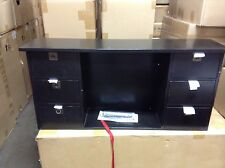 pottery barn office furniture. Pottery Barn Alden Home Office Desk Vertical Hutch Cubby Drawers Black Furniture