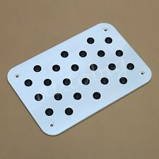 Aluminum Foot Rest Carpets Non-slip Mat Pad Plate Car Interior Accessories