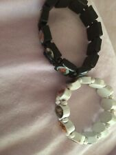 X2,Bracelet Wood Expandable Religious Jesus Angel Mary Bracelets